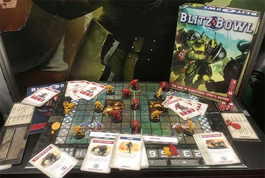 Presentación de Blitz Bowl en la New York Toy Fair