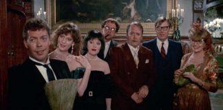 Protagonistas de la película cluedo, el juego de la sospecha de 1985