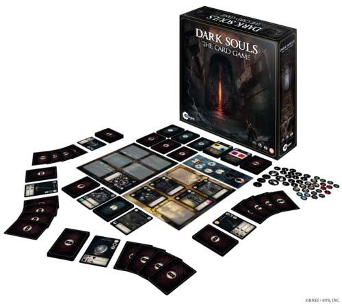 Componentes de Dark Souls el juego de cartas