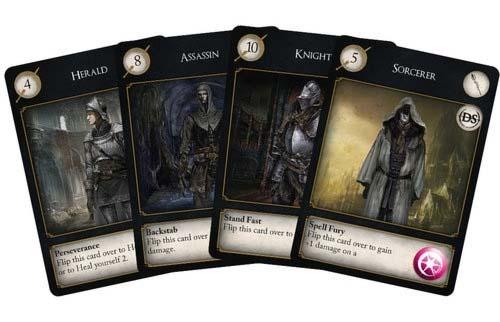 cartas de personaje de Dark Souls el juego de cartas