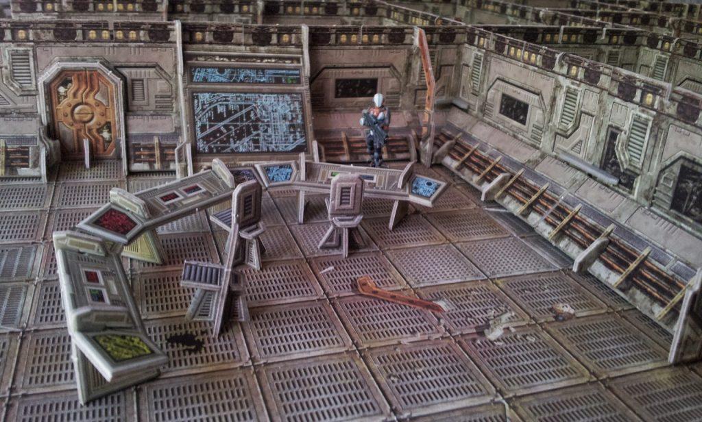 Escenografía futurista son miniaturas