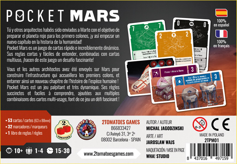 Trasera de Pocket Mars