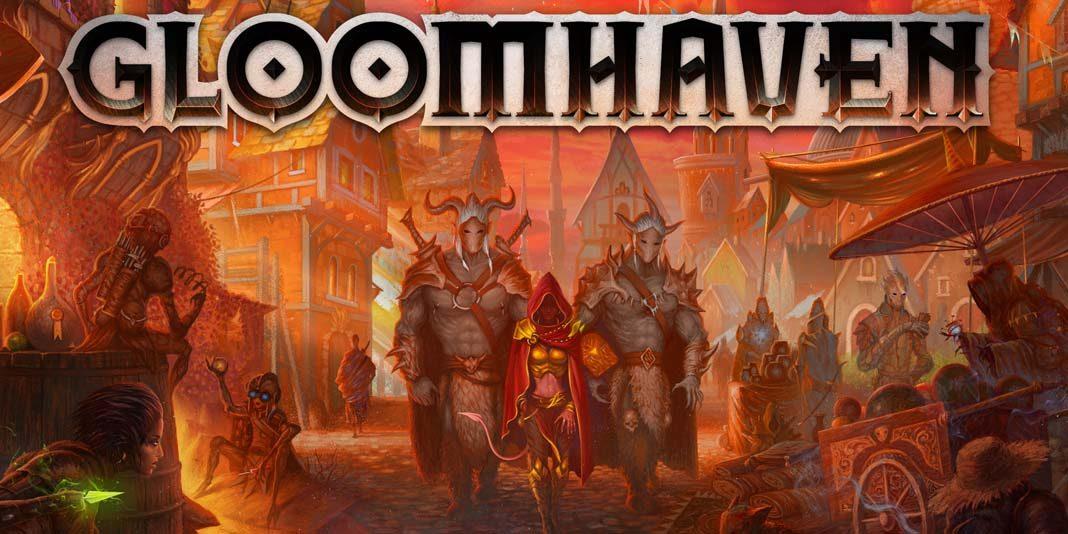 Detalle de la portada de Gloomhaven