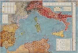 mapa Aníbal y Amílcar, Roma contra Cartago