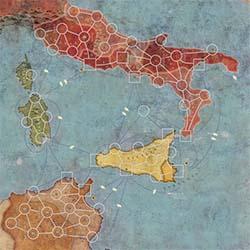 Detalle mapa Aníbal y Amílcar, Roma contra Cartago