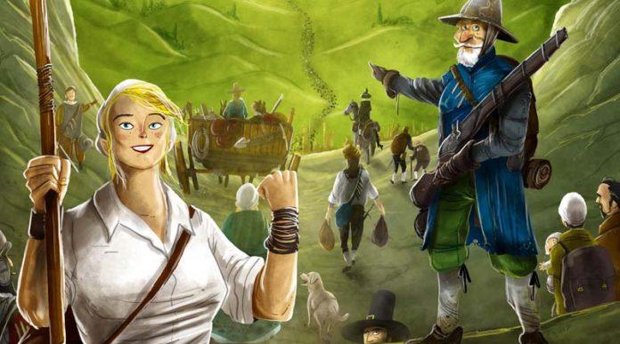 Arte de la portada de dice Settlers