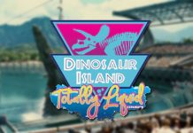 Logotipo de Dinosaur Island Totally Liquid