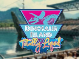 Logotipo de Dinosaur Island Totally Liquid