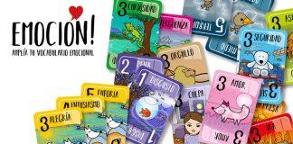 Cartas de las barajas del juego Emoción