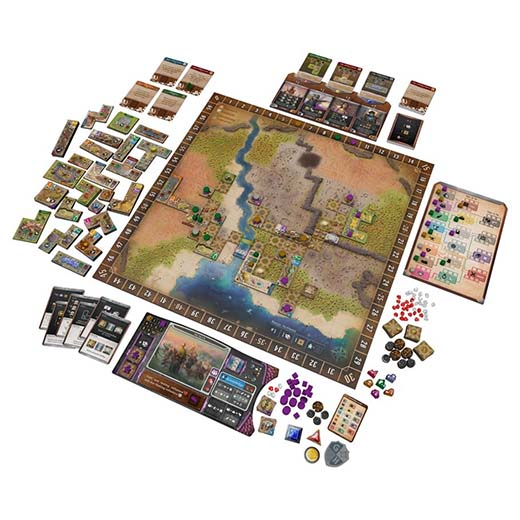 Componentes de Founders of Gloomhaven