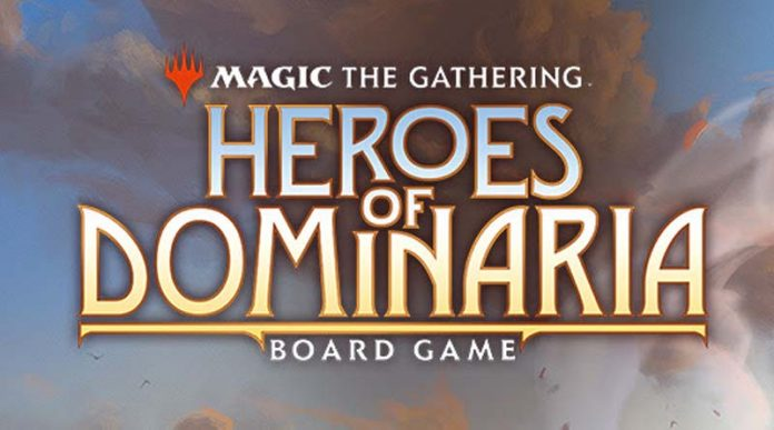 Logo de Heroes of Dominaria, el próximo juegod e mesa de Magic The Gathering