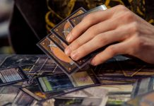 Mano de cartas de Magic the gathering