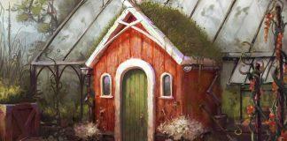 detalle de la portada de Reykholt