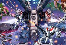 Detalle de la portada de Robotech: Attack on the SDF-1