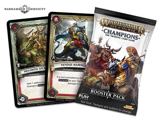 Cartas de ejemplo de Warhammer Age of Sigmar: Champions