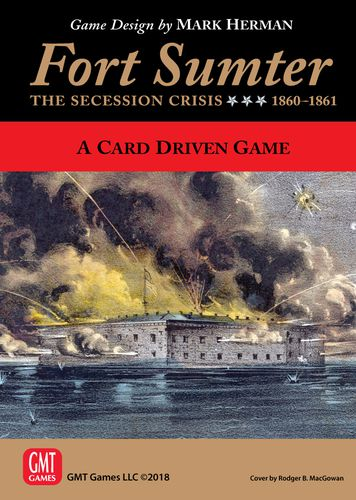 Portada del juego de GMT games Fort Sumter: The Secession Crisis, 1860-1861