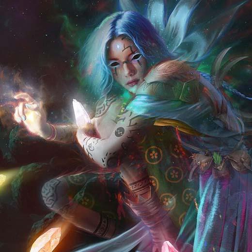 Arte conceptual del nuevo personaje de Gloomhaven Forgotten circle, la Aesther Diviner