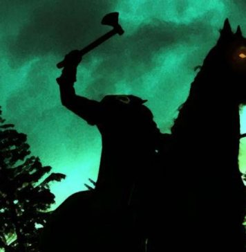 Imagen del jinete sin cabeza del juego de mesa de terror a touch of evil