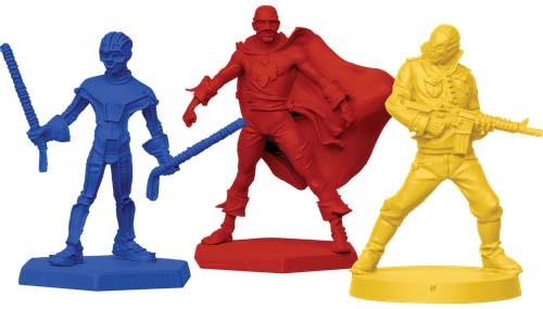Miniaturas del juego de mesa de Kick-ass