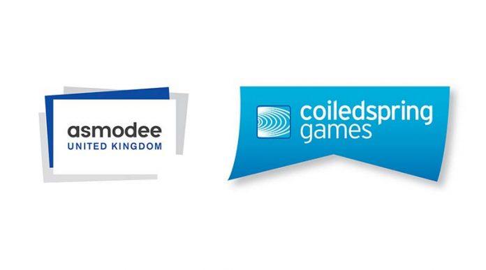 Logotipos de Asmodee Reino Unido y Coilspring Games