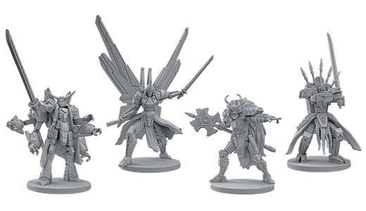 Miniaturas de de Starship Samurais