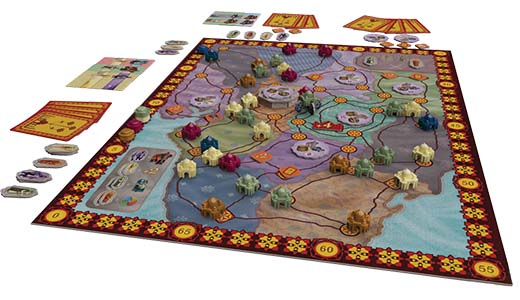 Componentes de la nueva edición de Taj Mahal de Z-Man Games