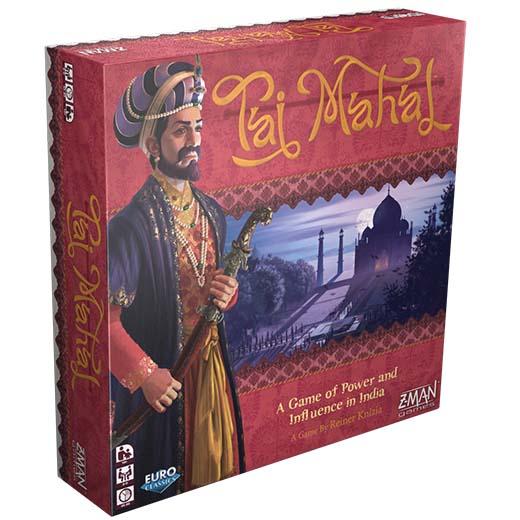 Portada de la nueva edición de Z-Man Games de Taj Mahal