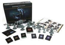 Componentes de la expansión para el juego de mesa Dark Souls Darkroot Basin