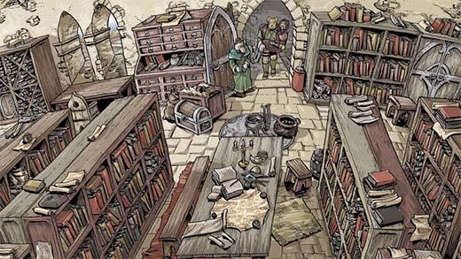 Ilustración del juego de rol Orn