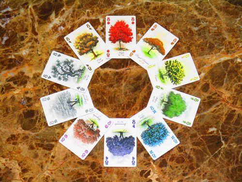 Los diez colores de las cartas de arboretum