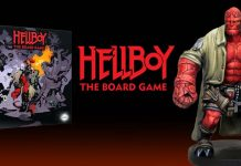 Logotipo del juego de tablero de Hellboy