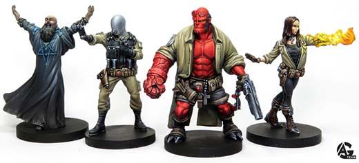Miniaturas del juego d emesa de Hellboy