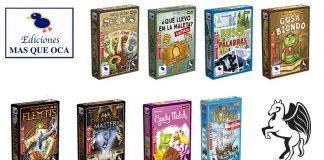Los nuevos títulos que editará masqueoca junto a Pegasus Spiel