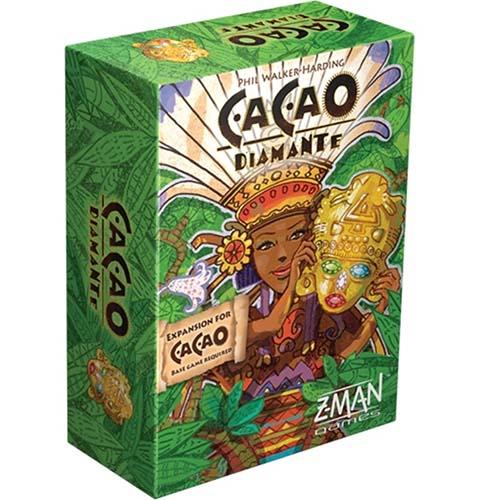 Portada de la edición de Z-Man games de cacao-Diamantes
