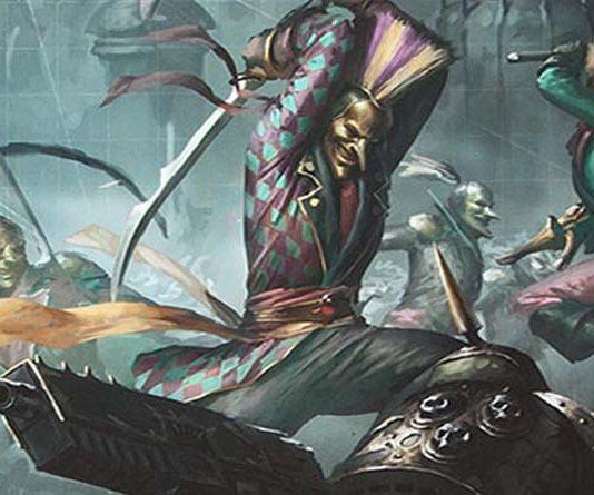 Ilustracion del nuevo codex de los arlequines de warhammer 40k