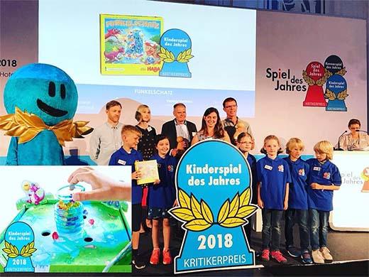 Ceremonia de entrega del vencedor del Kinderspiel des Jahres