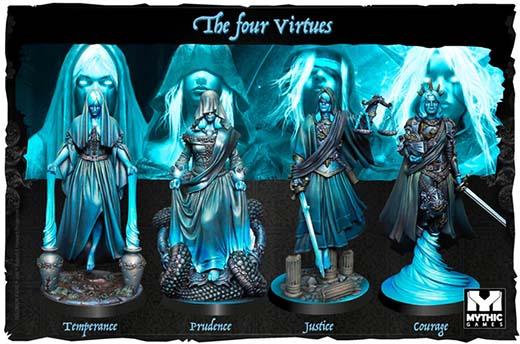 Miniaturas de las cuatro virtudes de Solomon Kane