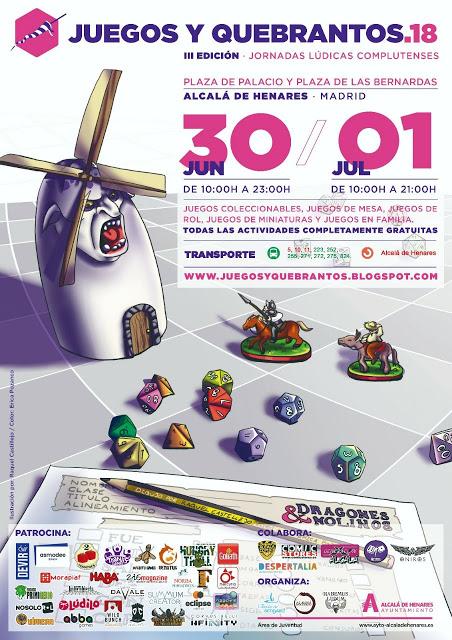 Cartel de la tercera edición de juegos y quebrantos