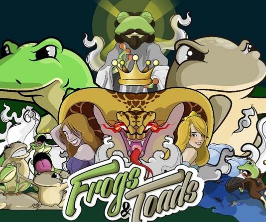 Ilustracion de presentacion de Frogs and toads