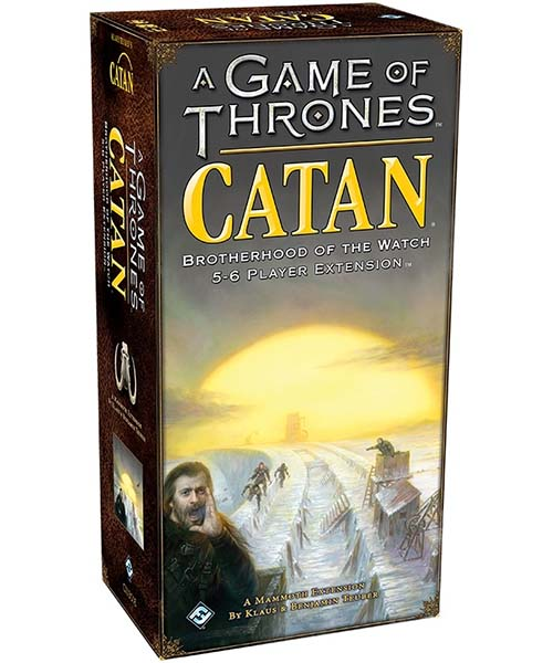 Portada de la expansión para Catan Juego de tronos Brotherhood of the Watch