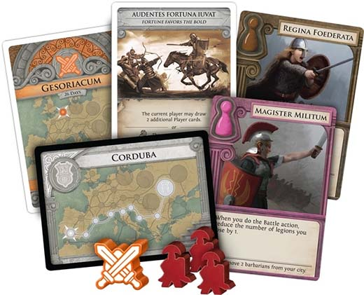 Componentes de Pandemic: Fall of Rome