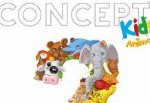 Logotipo de concept kids animals