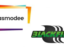 Logotipos de Asmodee y Blackfire Entertainment