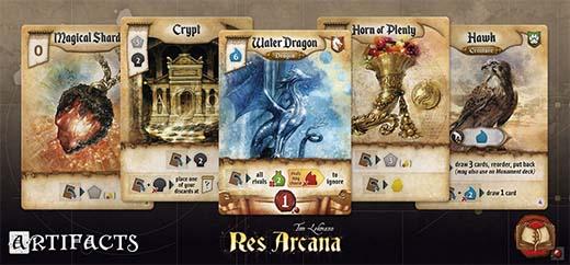 Cartas de artefactos de Res Arcana
