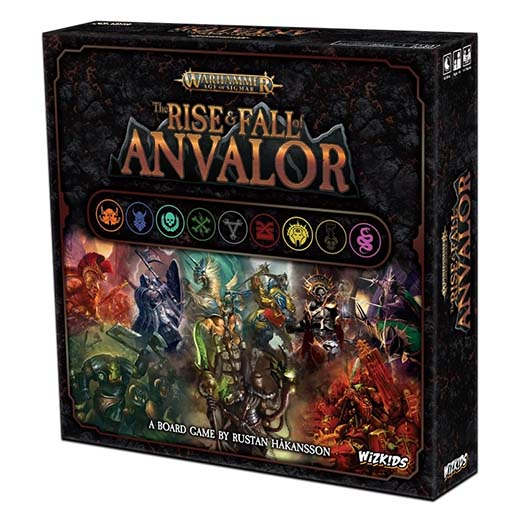 Portada de Warhammer: Age of Sigmar board game, The Rise and Fall of Anvalor