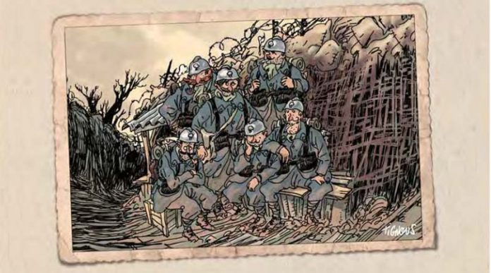 Detalle de la portada de la edición Armisticio de los inseparables