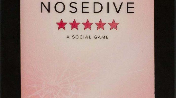 Fragmento de la portada del juego de mesa Nosedive