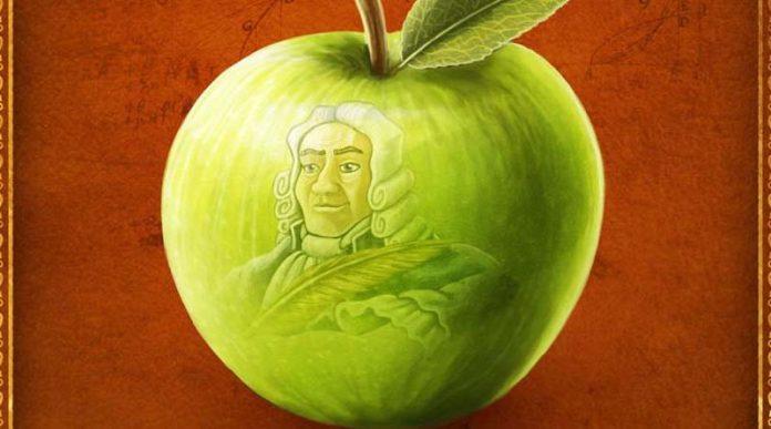 Fragmento del arte de la portada del juego de mesa Newton