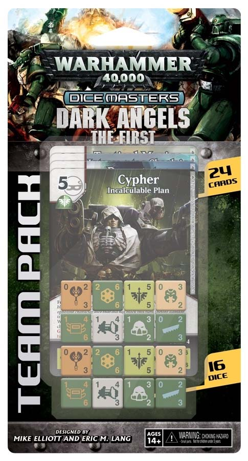 Expansión de los Dark Angels para Warhammer 40,000 Dice Masters