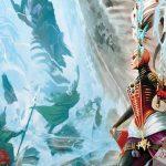 Ilustración de la portada de la expansión para Warhammer 40,000 Dice Masters Fracture of Biel-Tan